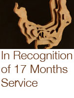in recognition of 17 months service